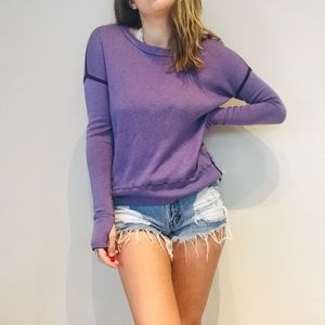 Lululemon purple reversible ribbed sweater
